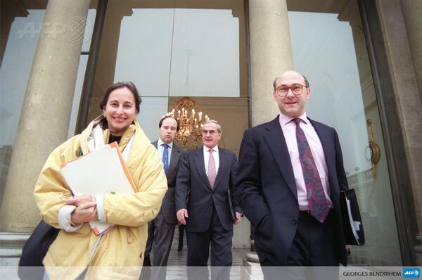 La photo de la semaine : Ségolène Royal, ministre de l'Ecologie, et Michel Sapin, ministre des Finances à l'Elysée… le 3 février 1993