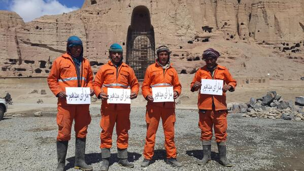 Municipality workers in central #Bamyan province says they will cast their votes in upcoming elections (#AfghansVote) http://t.co/tHKoh0best