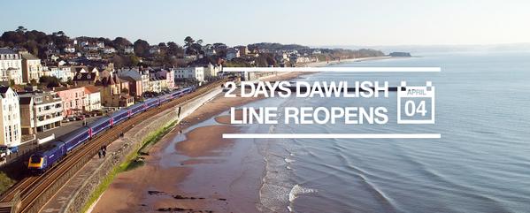 2 days until the Dawlish line reopens! http://t.co/q6APhK0PjT