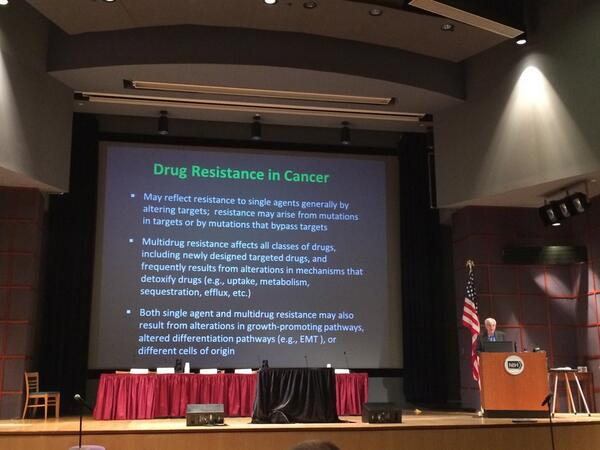 Dr. Michael Gottesman discussing drug resistance in cancer #PhysOnc http://t.co/AVmL0A4uE4