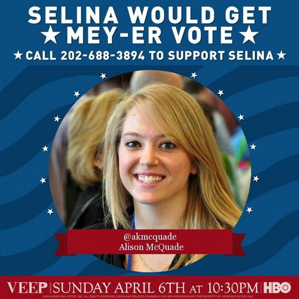 Bravo, @VeepHBO marketers! This was brillz. #iSupportSelina http://t.co/GZJF5jVkXr