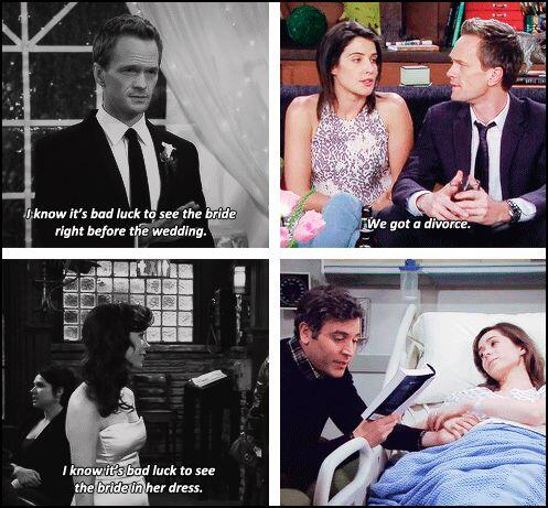 Swarklers On Twitter I Know It S Bad Luck To See The Bride Right Before Wedding Himymfinale Himymfarewell Himym Http T Co Zmadgel3jr