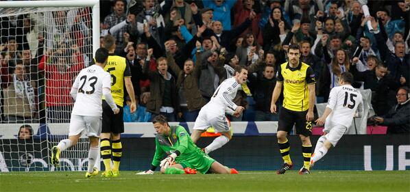 Gol Gareth Bale vs Dortmund 2014
