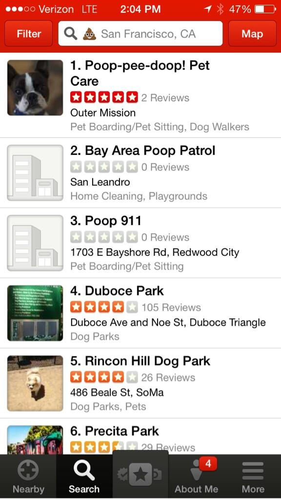 Lol so proud of @yelp mobile team. First to provide emoji local search. http://t.co/FUlsPdvYDH