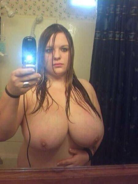 Big Tit Redhead Sucks Cock