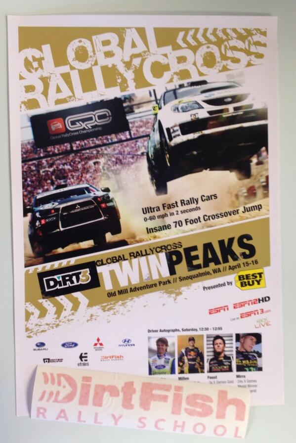 #winitwednesday Retweet to enter to win  a @GlobalRallyX 2011 Dirtfish event poster held #rally #grc #redbull http://t.co/y1Z1ZUcGGw