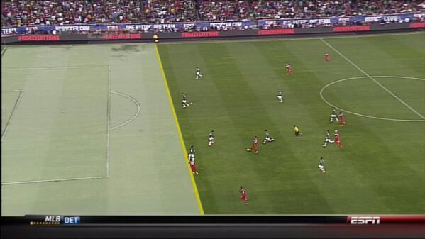 USA boss Jurgen Klinsmanns fan like reaction to Eddie Johnsons disallowed game winner v Mexico [GIF]