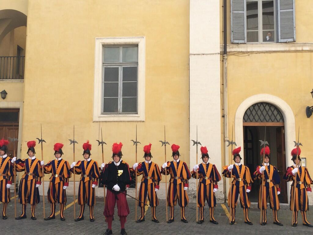 Twitter / tconnellyRTE: Swiss Guards await the arrival ...