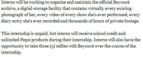 """@danielstorey85: Payment in selfies. Welcome to modern life, courtesy of Beyonce. http://t.co/bceHtwlBSM"" >> mind = blown"