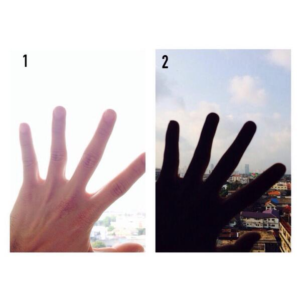 หากมือคือ ปัญหา ท้องฟ้าคือ เป้าหมาย ยิ่ง Focus ปัญหายิ่งมองไม่เห็นเป้าหมาย หากแต่ Focus เป้าหมาย ปัญหาแทบจะมองไม่เห็น http://t.co/r8rw8aRF8T