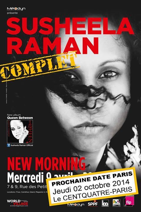 Susheela Raman @ New Morning le 09/04 : COMPLET, nouvelle date le 02 Octobre au @centquatre http://t.co/XZxXvOMjyX http://t.co/pjqhdHCmNX