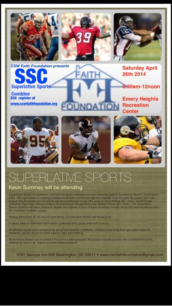 Pro football try out!!! Go Register!!! Superlative Sports Combine!!! http://t.co/YnSAGijhep