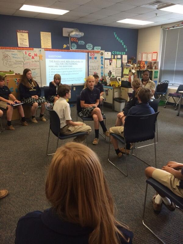"""@MiningMinds_07 creates a fish bowl to explore """"why are we a school of innovation?"""" #mvpschool #learningwalk http://t.co/3ENRxcy1a0"""