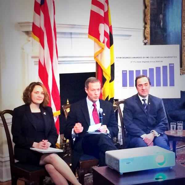 under @GovernorOMalley's leadership, Maryland has increased it's number of #STEM graduates by 37.1%! http://t.co/BzVYpPti5y