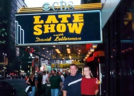 Audrey and I went to see #Letterman in 2001. He will be missed.  Good luck Dave! http://t.co/Wak8Dtc7qE