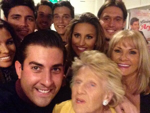At my book launch party for Living it Arg but forget the Oscars, it's all about this - the ultimate TOWIE selfie !! http://t.co/SUjzKgp8Hc