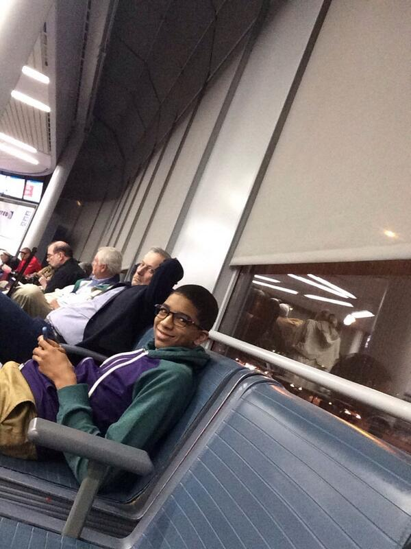 Image result for chance the rapper airport fan