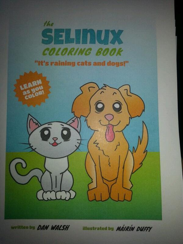 Daniel Walsh On Twitter SELinux Coloring Book Tco 0p6myLwiqE
