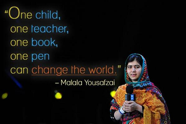 Quality inspiration from the one and only #MalalaYousafzai: http://t.co/9yjArBEmYg #WeeklyWisdom http://t.co/QDIOJyqw0a