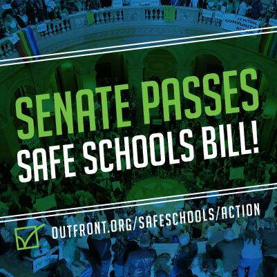 The Safe & Supportive MN Schools Act PASSES the Senate! Thank you to all Senators who voted YES to protect youth! http://t.co/L8F7XK5yte