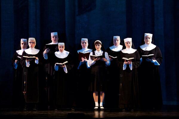 """God loves us when we sing…even like that."" - #SisterActTour http://t.co/AyYE1AVtEJ"