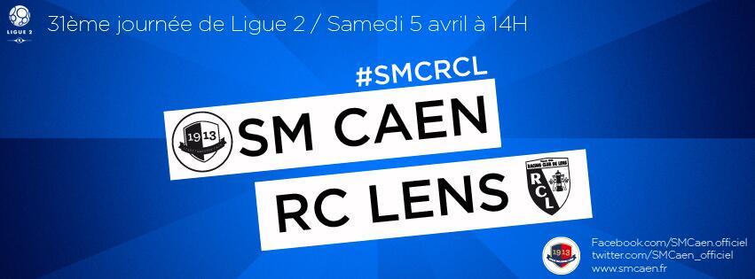 [31e journée de L2] SM Caen 1-0 RC Lens BkW5WaqCMAAF9Eu