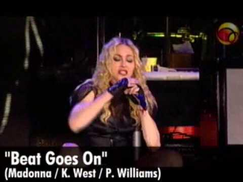"""#madonna Madonna sings """"Beat Goes On"""" live in São Paulo [UOL] http://t.co/i54ECDgfbh http://t.co/cwX2kVv9fk"""