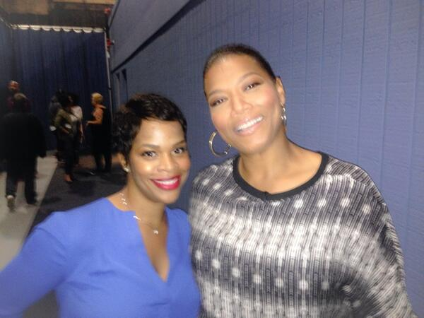 20yrs ago I interned 4 @IAMQUEENLATIFAH Today I'm bringing my client @4everBrandy 2 @qlshow  #GottaLoveTheQueen! http://t.co/xqgaJ5gZUE