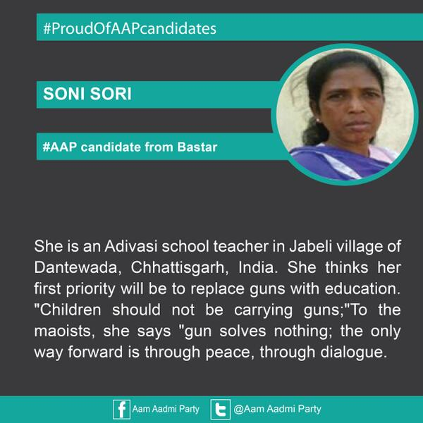 Image result for soni sori aap