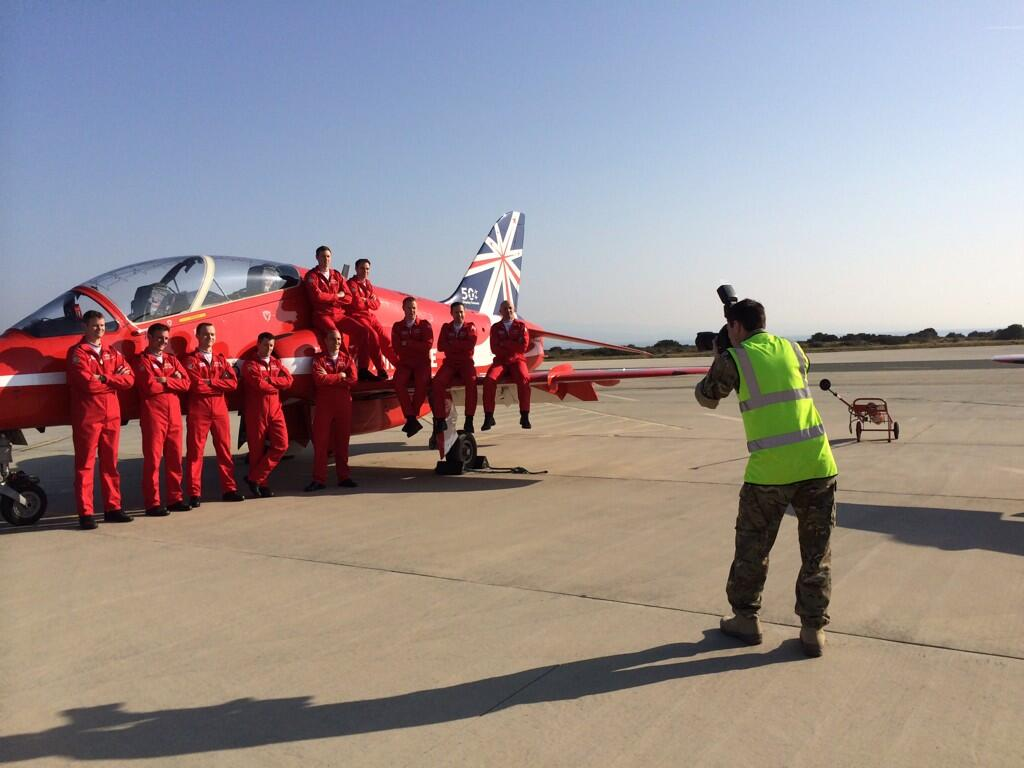 RT @RAFRed10: Out of the jets and straight into red suits for a quick photo for this year's #reds50 brochure http://t.co/7pbE7p1J50