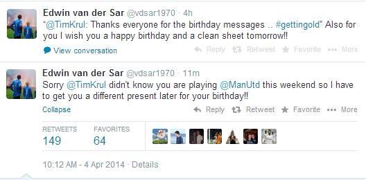 Jokes! Ex Man United keeper Edwin van der Sar reclaims his birthday tweet for Newcastles Tim Krul