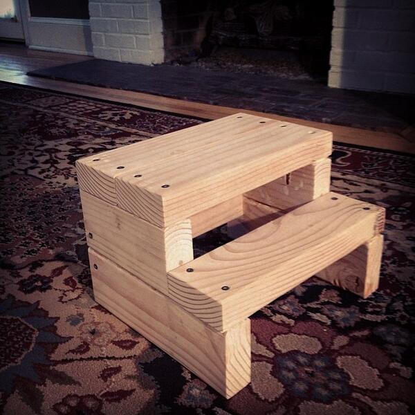 Brian Cox on Twitter  Step stool made from a single 2x4 #DIY #woodworking #novice. Dowels next time instead of screws...? //t.co/6x6hVFRRUl  & Brian Cox on Twitter: