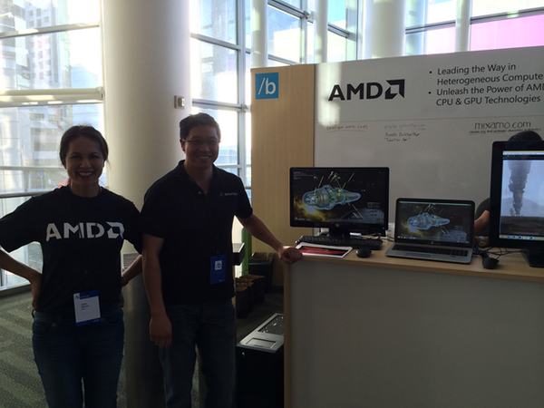 Victor at AMD booth / Microsoft Build conference. Showcase Splashtop Remote 3D gaming! http://t.co/f3dYFECak9