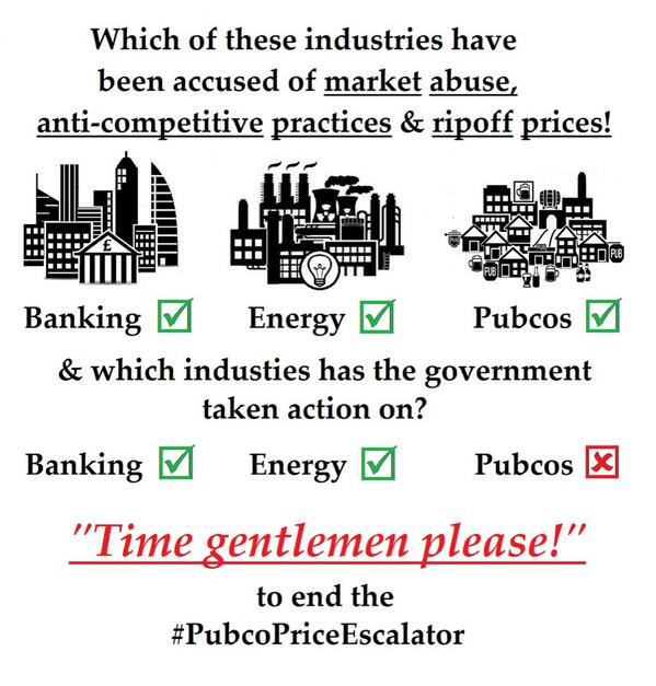 Why action on #banks & #energycompanies not #pubcos @vincecable? #TimeGentlemenPlease 2 end the #pubcopriceescalator