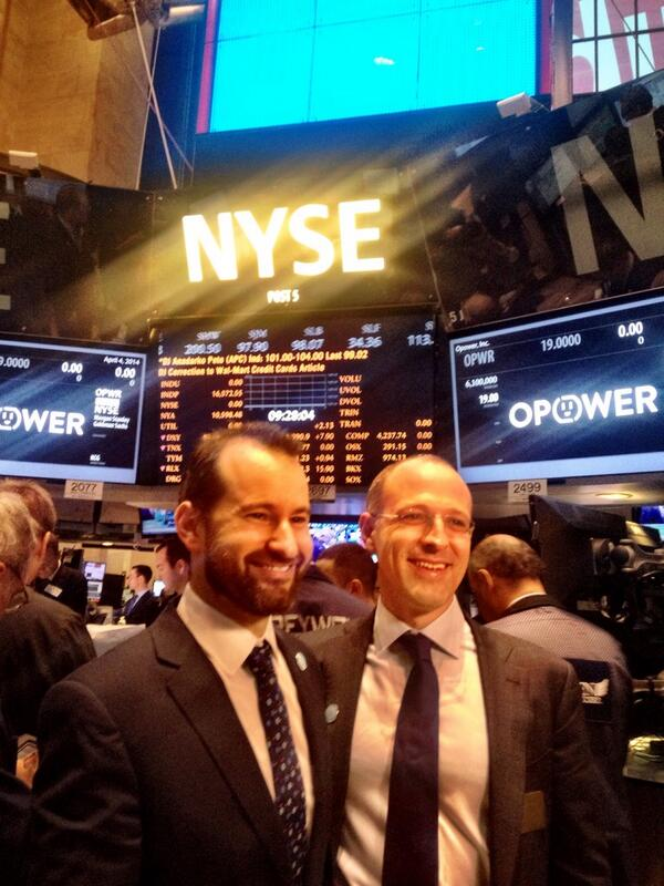 .@Opower is joining #NYSE today as a publicly traded company @NYSEEuronext $OPWR #OPWR @danjyates @adlaskey http://t.co/A5Lx1u2m1l