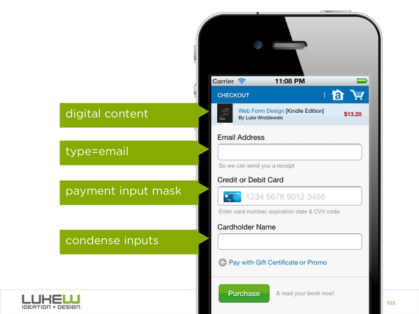 @lukew: Checkout form design (for digital content) that only requires 3 input fields: http://t.co/IWw51rmObV
