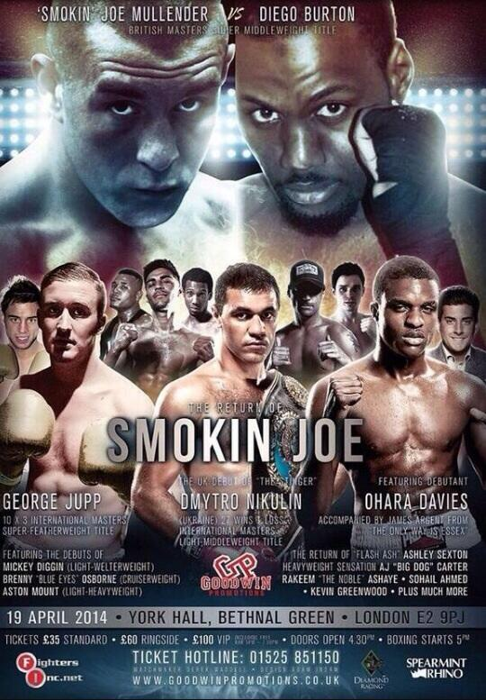 My fight will be at york hall on April 19th tickets £35 and £60 ringside!its going to be a great night!thanks x http://t.co/Ltn9fM01LD