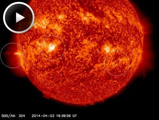 RT @EpicCosmos: Three explosions on the Sun or just one big chain reaction?? http://t.co/iQ3jRprZRB video http://t.co/eWGL1Ea1Jh http://t.c…