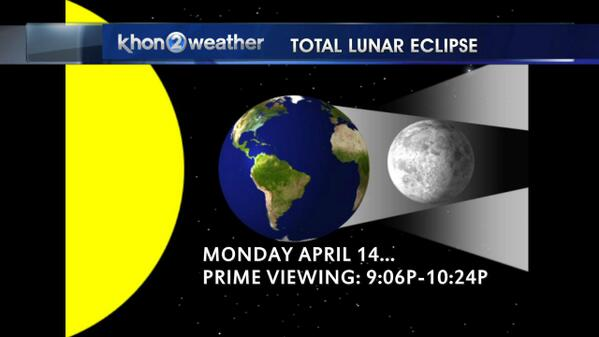 Monday night, total lunar eclipse, best viewing times for Hawaii. http://t.co/kv3cW8E1Jp