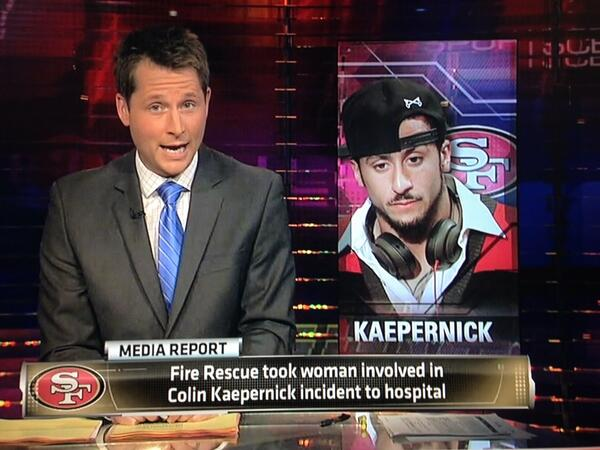 Interesting that ESPN decided to use this picture of Kaepernick instead of his standard 49ers headshot http://t.co/XEsYXHtKw6