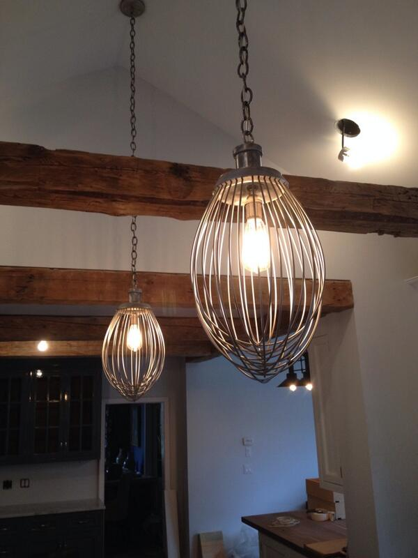 "David Dall on Twitter: ""I made these lighting fixtures from industrial mixers. Lara came up w the idea two years ago! http://t.co/oHRA1MbVKA"""
