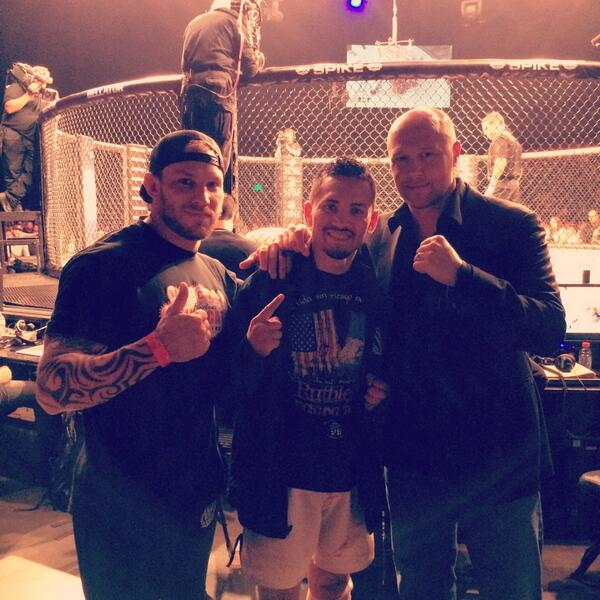 Cage side @BellatorMMA with @RuthlessMorales & @BjornRebney after Rudy's big win!! http://t.co/zkdePNjP6S