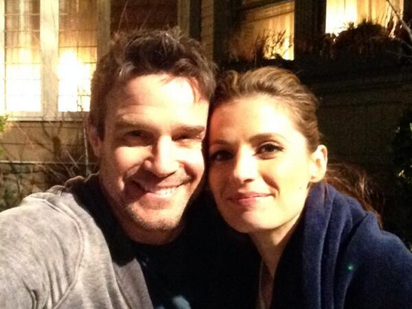Greetings from the set of @Castle_ABC, with the lovely and talented @Stana_Katic! http://t.co/lD7OsPOsLM