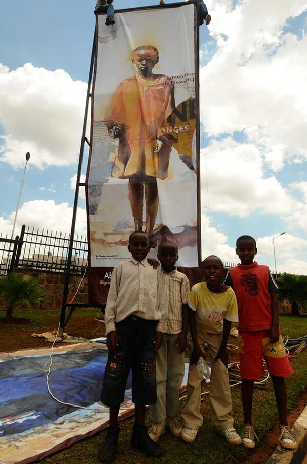 #UpRightMen Exhibition in #Kigali #Kwibuka20 #PrevGen #Rwanda @GaelFaye @BruceClar