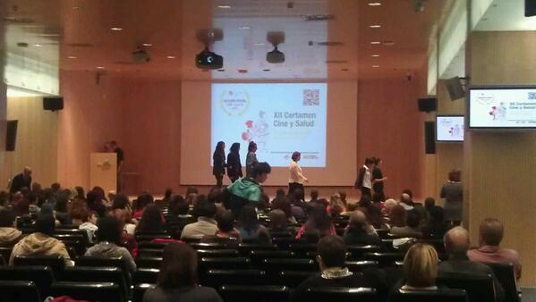 Empieza #CineySalud2014 ! A disfrutarlo, suerte a los/as participantes! http://t.co/pe16JltFJW