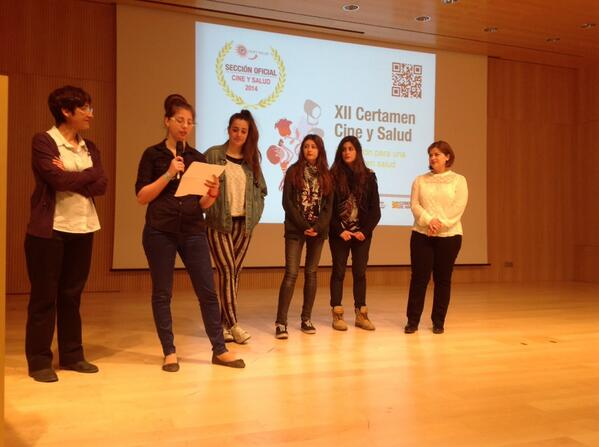 12 Certamen #cineysalud2014 Presentacion de !Levante! IES Goya de #Zaragoza #DMS2014 http://t.co/6937e8ZDCR