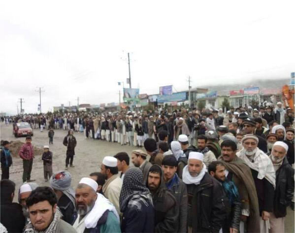 Despite security threats and bad weather, the turn out is very high in #AfghanistanPresidentialElection http://t.co/yzl3JmnW8K
