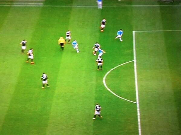 Lino! David Silva was miles offside for Man Citys 2nd goal, setting up Nasri to score