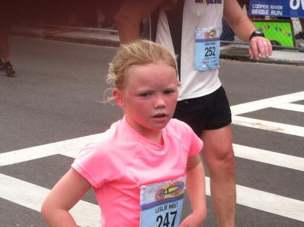 9 year old Leslie holt of mt pleasant finished in 50 minutes! Wow #crbr http://t.co/iYFPqQr2hw