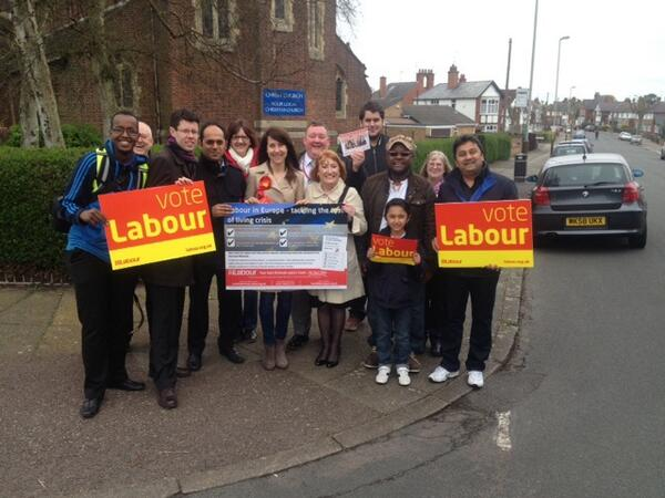 Labour are campaigning in every community in the East Midlands